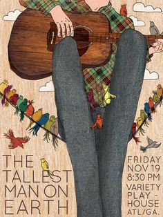 The Tallest Man on Earth - gig poster