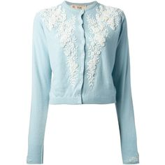 PRINGLE OF SCOTLAND VINTAGE floral embroidered cardigan (22,970 INR) ❤ liked on Polyvore featuring tops, cardigans, outerwear, sweaters, button front cardigan, ribbed cardigan, long sleeve tops, cashmere cardigan and vintage cardigan