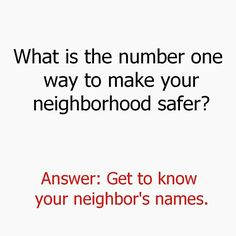 Get to know your neighbors.  We Love Long Beach.