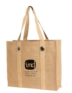 Jute Fashion Tote With Grommets