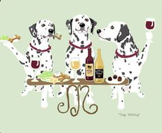 Dalmatian Dog's WINEing