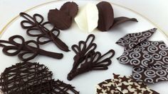 How to make chocolate garnishes decorations tutorial PART 2 how to cook that ann reardon. How to make chocolate decorations to garnish your desserts. Part 2 For video on how to temper chocolate: . For template for piped designs: . To buy the te How To Temper Chocolate, Chocolate Work, Modeling Chocolate, How To Make Chocolate, Chocolate Chocolate, Cake Decorating Techniques, Cake Decorating Tutorials, Cookie Decorating, Decorating Cakes