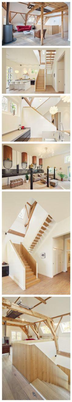En 2012, les architectes hollandais de chez Zecc ont relevé le défi de réaménager une remise à calèches datant de 1760 en maison spacieuse. La « Coachhouse Breukelen » se situe dans la province Utrecht en Hollande. Un projet original aux poutres et escaliers boisés ainsi qu'une dominante de blanc.