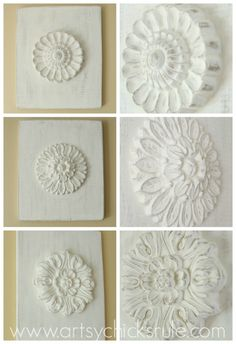 "DIY ""Carved"" Wood Medallions {inspired by – Ballard Designs}"