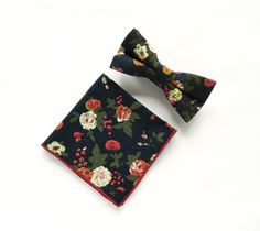 Mens navy blue floral tie pocket square wedding cotton blue floral prints wedding gift for men Groomsmen by TheStyleHubTrends on Etsy