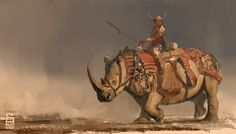 Rhino Rider by vladgheneli on deviantART | Create your own roleplaying game books w/ RPG Bard: www.rpgbard.com | Pathfinder PFRPG Dungeons and Dragons ADND DND OGL d20 OSR OSRIC Warhammer 40000 40k Fantasy Roleplay WFRP Star Wars Exalted World of Darkness Dragon Age Iron Kingdoms Fate Core System Savage Worlds Shadowrun Dungeon Crawl Classics DCC Call of Cthulhu CoC Basic Role Playing BRP Traveller Battletech The One Ring TOR