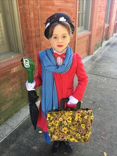 Girls Mary Poppins costume