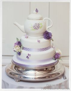 Teapot wedding cake