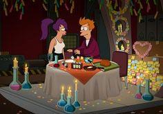 "Futurama #7.14 and .15 ""2-D Blacktop; Fry and Leela's Big Fling"""