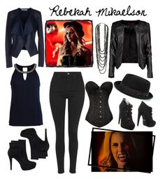 Rebekah Mikaelson-The Originals by xoxohannaxoxo on Polyvore featuring polyvore fashion style VILA Boohoo ONLY Topshop Jeffrey Campbell Nly Shoes Forever 21 women's clothing women's fashion women female woman misses juniors