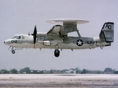 Grumman E-2C Hawkeye carrier-based electronic warfare/reconnaissance turboprop aircraft
