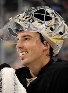 MAF laughs during an interview after the Pens win 4-1 against the Sabres 10/5/13