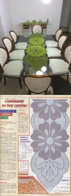 64 ideas for crochet table runner free pattern charts lace doilies Filet Crochet, Art Au Crochet, Crochet Doily Patterns, Crochet Home, Thread Crochet, Crochet Designs, Crochet Crafts, Crochet Doilies, Crochet Table Runner