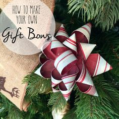 Are you a bow kind of person when it comes to gift wrapping? Bet you didn't realize you could make your own! #Christmas  http://hashtagblessedblog.com/2015/11/m…