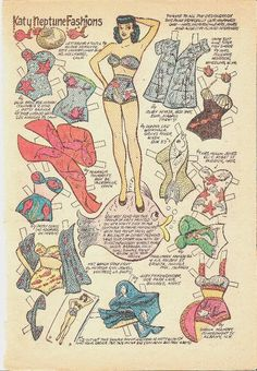Katy Keene paper doll swimwear / eBay