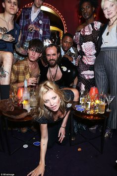 Party people: Joined by Dame Vivienne Westwood and her husband, Andreas Kronthaler, the mo...