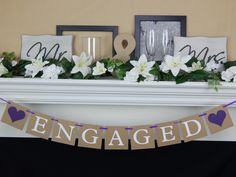 Bridal Shower Banner Happily Ever After Trendy Ideas Bridal Shower Cards, Bridal Shower Rustic, Engagement Party Decorations, Engagement Parties, Fall Engagement, Wedding Photography List, Bridal Shower Centerpieces, Wedding Photo Props, Party Banners