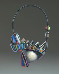 """Marjoire Schick,  """"I'd like to think I've made contributions to the field, that I've helped open peoples' eyes to sculpture to wear."""" Quote found at: http://www.pittstate.edu/stories/detail.dot?id=2414"""