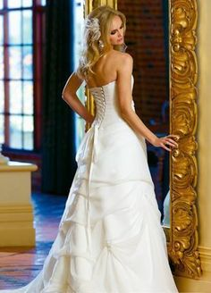 wedding dresses a line wedding dresses with straps wedding dresses yellow a-line/princess sweetheart cathedral train wedding dress forbrides 2014 style
