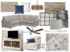 I currently have openings for new Online Design Projects! You guys have been asking for a room makeover reveal, so today,. Family Room Design With Tv, Family Room Colors, Furniture Arrangement, New Furniture, Great Rooms, Home And Living, Living Room Decor, Living Rooms, Cape Cod