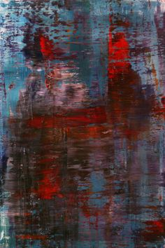 "Koen Lybaert; Oil 2013 Painting ""abstract N° 727"" It looks like the reflection of rain on a side walk"