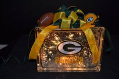 Check out this item in my Etsy shop https://www.etsy.com/listing/174556001/green-bay-packers-lighted-glass-block