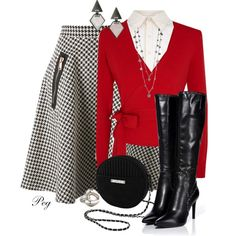 """""""Skirt & Boots"""" by derniers on Polyvore"""