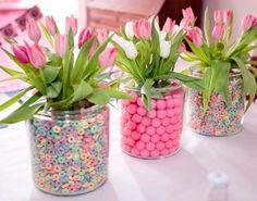 Centros De Mesa Infantiles Originales Flores