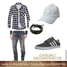 Mode Masculine, Casual Shirt, Adidas Shoes, Jeans, Cap, Mens Fashion, Bracelet, Stuff To Buy, Men