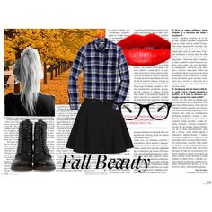 My new favorite obsession for fall! Pairing flannels and sweaters with skater skirts and combat boots for an edgy, grungy vibe