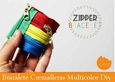 M Brazalete de Cremalleras multicolor Diy - enrHedando