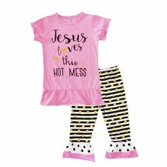 1595c5340d2 Moonlight Girls Clothing Sets Kids Summer Clothes 2017 New Letter T Shirts+Stripe  Polka Dot Pants Baby Girl Outfits Set