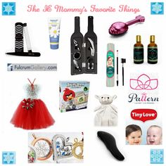 The IE Mommy's Favorite Things #Giveaway - 11 Winners - Sydney SmartPhone Case - Fleur Berry | Lambie Lovie Snuggle Blanket | Christmas 3 Piece Outfit | 5-Piece Wine Bottle Corkscrew & Accessory Set | Tiny Love | Angry Birds Action Game | The Knot Genie | Fulcrum Gallery | Origami Owl | Crave Naturals | Foot Cream