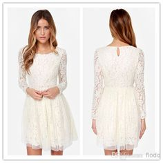 Cheap Zuhair Murad Dress - Discount a Line Long Sleeve White Lace And Chiffon Online with $72.99/Piece | DHgate.com