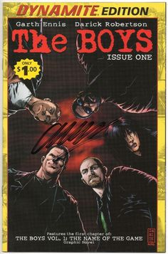 The Boys #1 / Signed by Garth Ennis / Dynamite Edition Reprint / Selling Now!!!