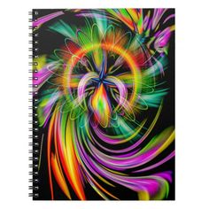 Creations in the color spectrum 2 spiral notizbuch