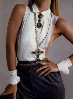 Vogue Editorial Giving Pleasures The Irresistible Accessories, November 1981 Shot #5 | MyFDB