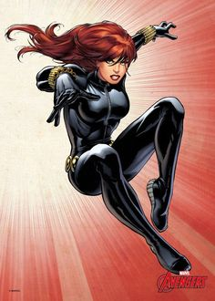 Black Widow von den Avengers by Marvel Arte Dc Comics, Marvel Comics Art, Avengers Comics, Marvel Comic Books, Marvel Marvel, Marvel Girls, Comics Girls, Marvel Women, Comic Poster