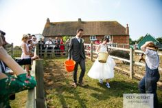 Tom & Carly's Wedding. Pig racing... on your wedding day!! Yes please!!