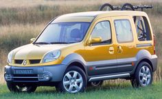 Renault Kangoo Break'up Concept, 2002. A 4x4 version of the Kangoo van designed 'to entice its occupants out into nature for fun and adventures'