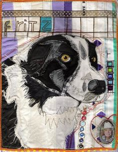 Fritz by Karin Winter, a fabric portrait.