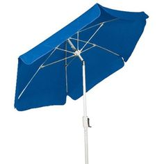 Home Collection 7.5ft Garden Umbrellawith Push Button Tilt   Flexible fiberglass ribs with molded nylon joints, hubs, and end tips Valance-style canopy