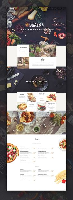 Faicco's italian Restaurant website restyling. Ui design concept by Virgil Pana on Dribbble. #webdesign #ui