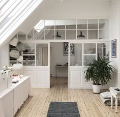 blanc Interior Architecture, Interior Design, Interior Windows, Attic Spaces, Window Wall, Home Remodeling, House Design, Wall Design, New Homes