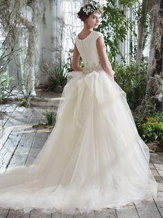 Maggie Sottero Wedding Dress Aracella Marie Back Maggie Sottero Wedding Dresses, Wedding Bridesmaid Dresses, Gown Wedding, Gown Gallery, Bride Gowns, Perfect Wedding Dress, Beautiful Gowns, Beautiful Bride, Designer Wedding Dresses