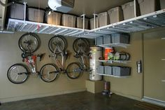 Organize your garage and cut the clutter with this garage storage system that you can easily customize to fit any space and can hold almost anything. Description from kirkwoodhomeblog.com. I searched for this on bing.com/images