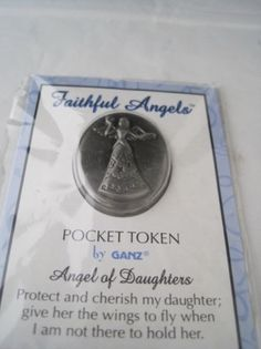 New-Pewter-Faithful-Angels-Pocket-Token-for-Daughters