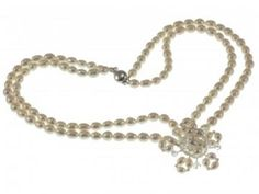 Starlight Necklace. Double strand of freshwater pearls with pearl and Swarovski crystal star Hermione Harbutt. http://www.hermioneharbutt.com