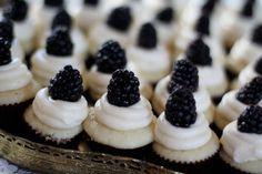 blackberry lemon mini cupcakes
