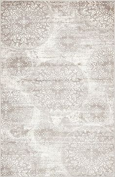 Unique Loom Sofia Collection Light Gray 5 x 8 Area Rug (5' x 8')